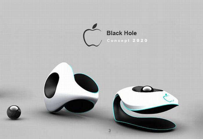 Apple Black Hole Mobile Phone Design