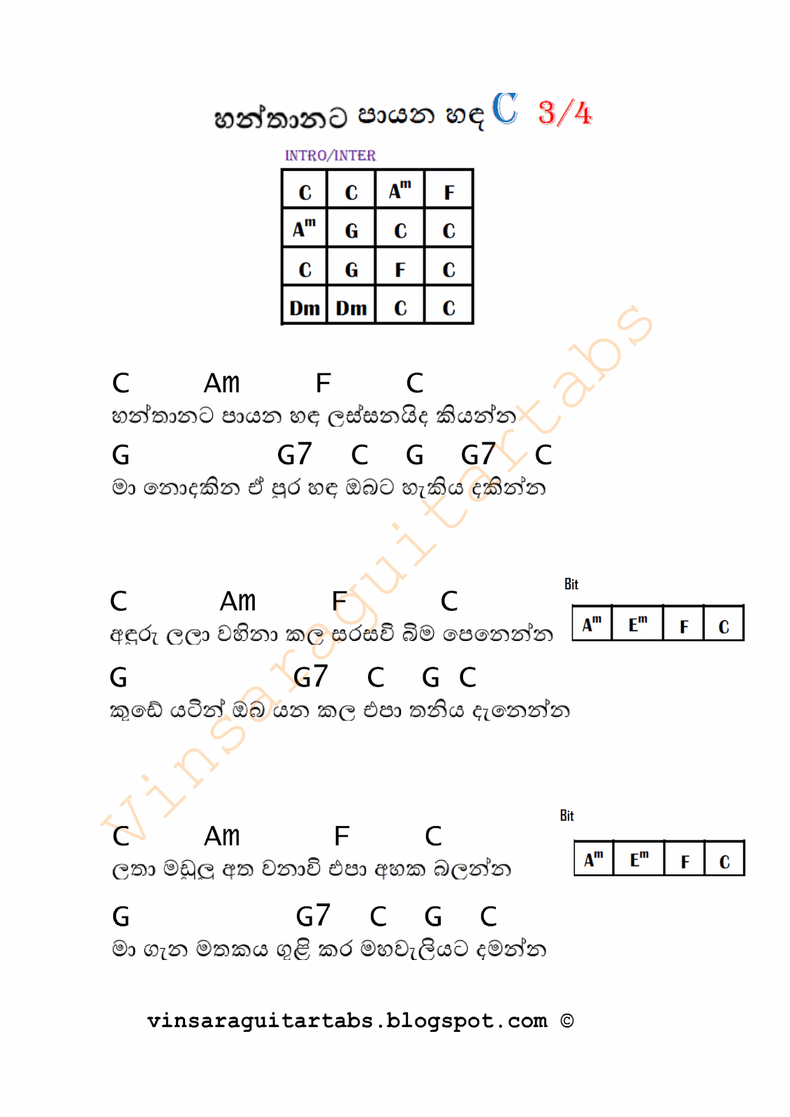 Sinhala Guitar Chords Songs Tabs Midi Picture To Pin On