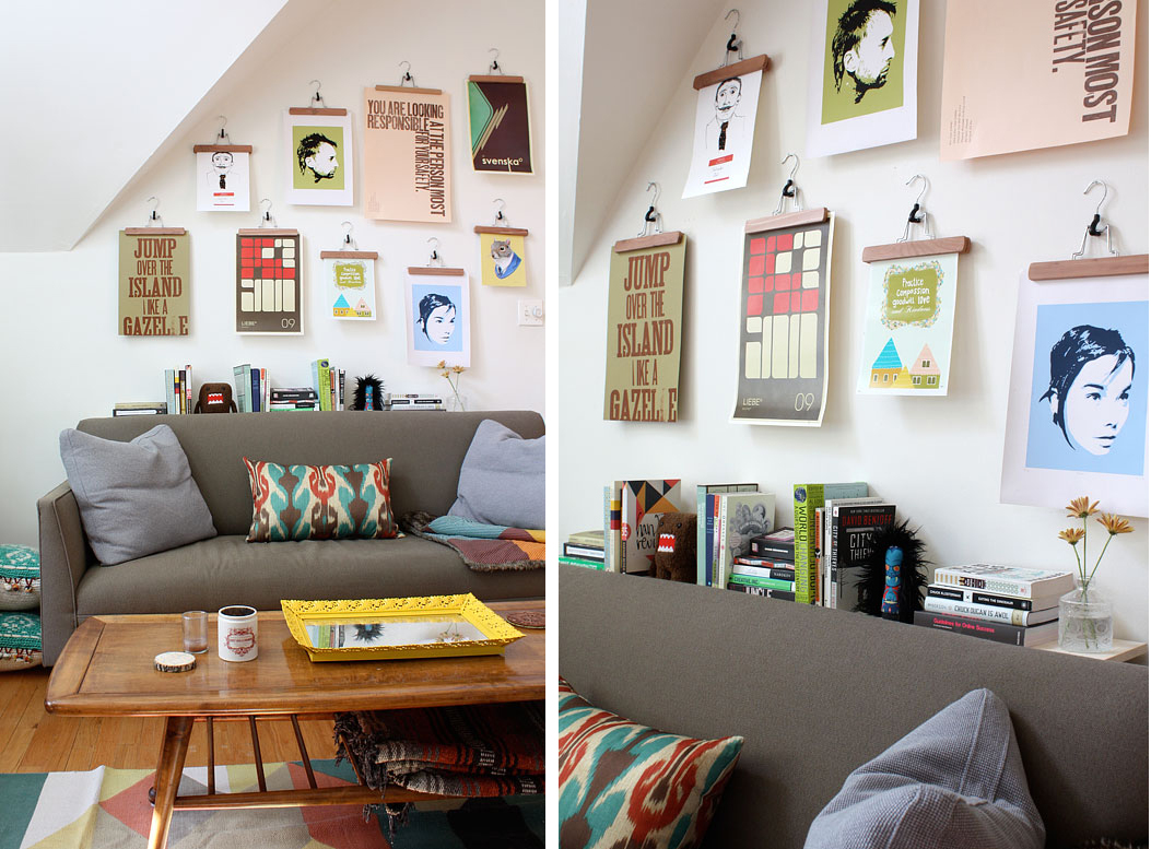Also Today Someone Posted This Fantastic And Creative Way Of Displaying Posters In Their Living Room Using Pant Hangers From Ikea To Learn How They Made