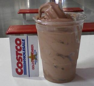 Costco Cuisine: Costco Food Court Chocolate Frozen Yogurt