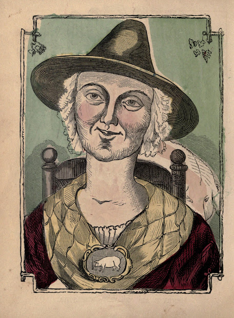 Vintage Ephemera Illustration Witch 1861