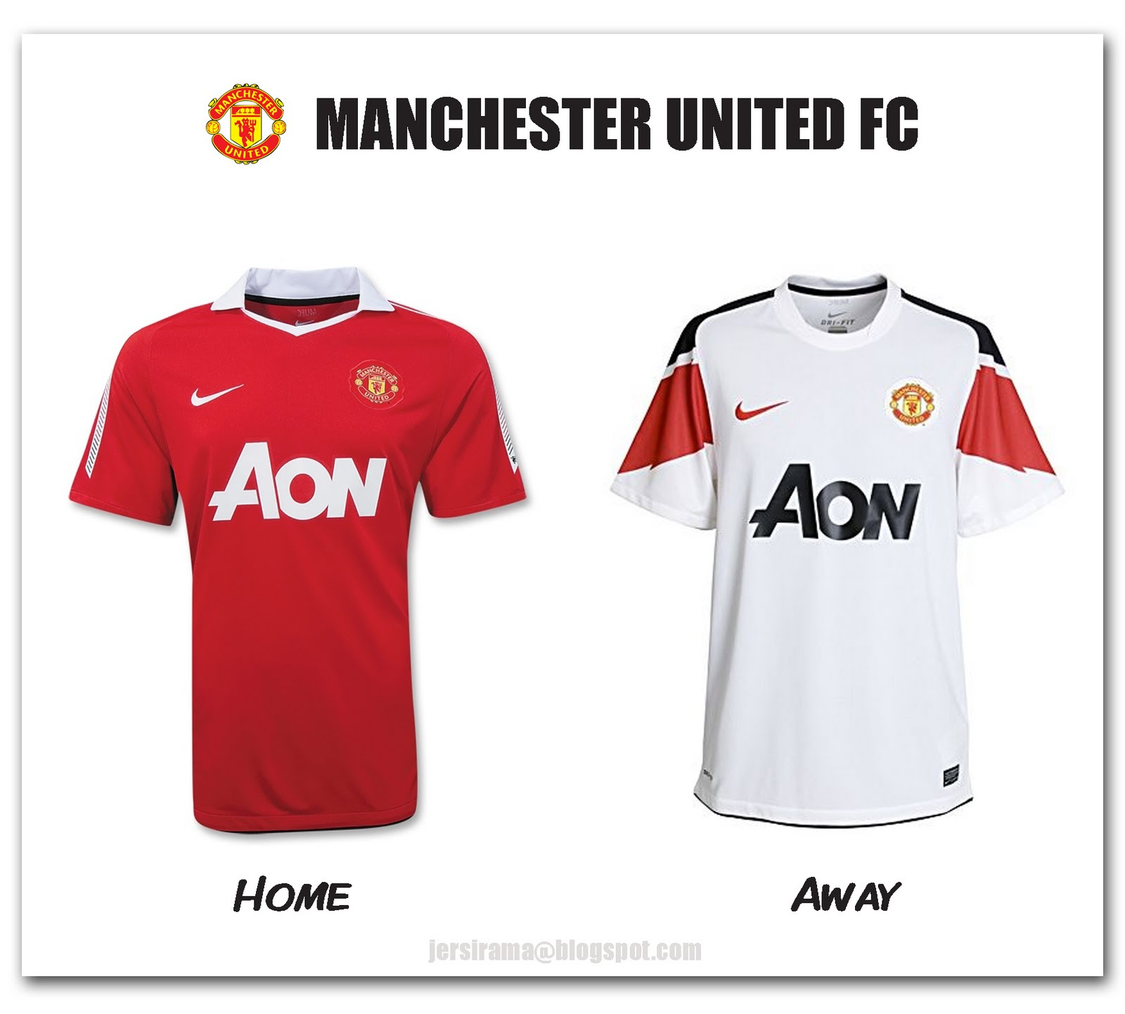 0ae9f2a05 Manchester United Home   Away Jersey 2010 2011