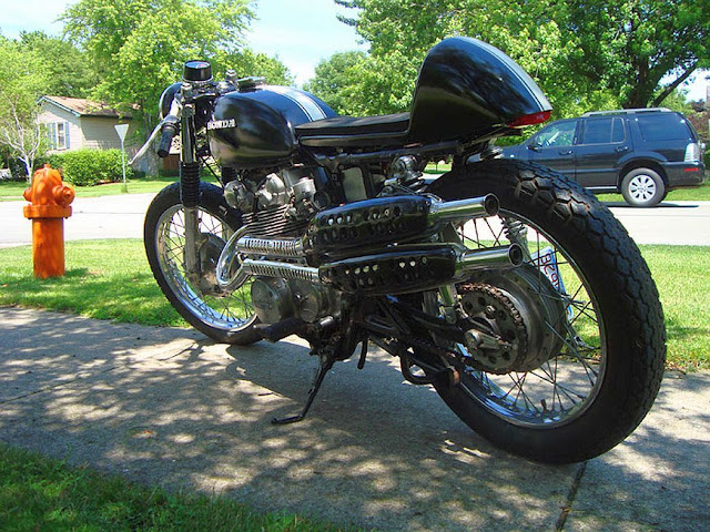 motocycle styles: interesting honda cl450 cafe racer