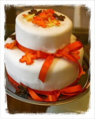 Tastefully Done: Fall Bridal Shower Cake $75.00 Serves 30