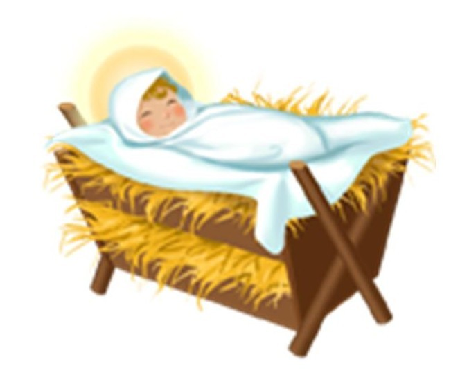 free clipart of baby jesus in a manger - photo #4