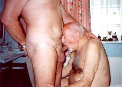 Gay sucking grandpas cock