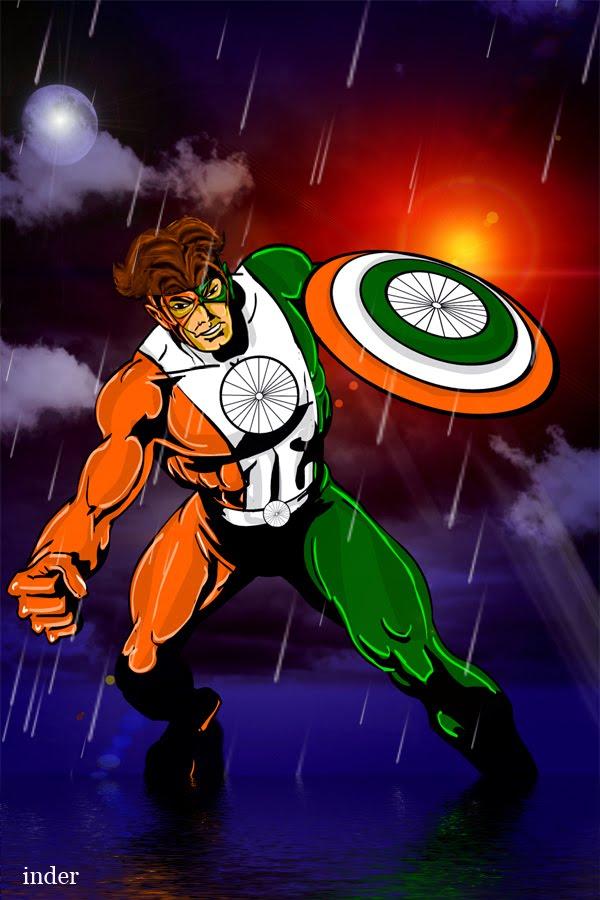 Indian Tiranga 3d Wallpaper Superhero Artwork Tiranga