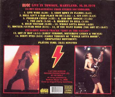 AC/DC - THE JACK (LIVE) LYRICS - SongLyrics.com