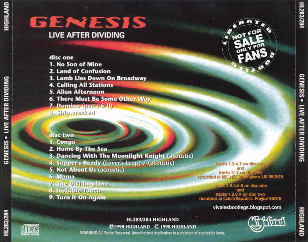 Genesis Live After Dividing Nec Birmingham Uk Prague