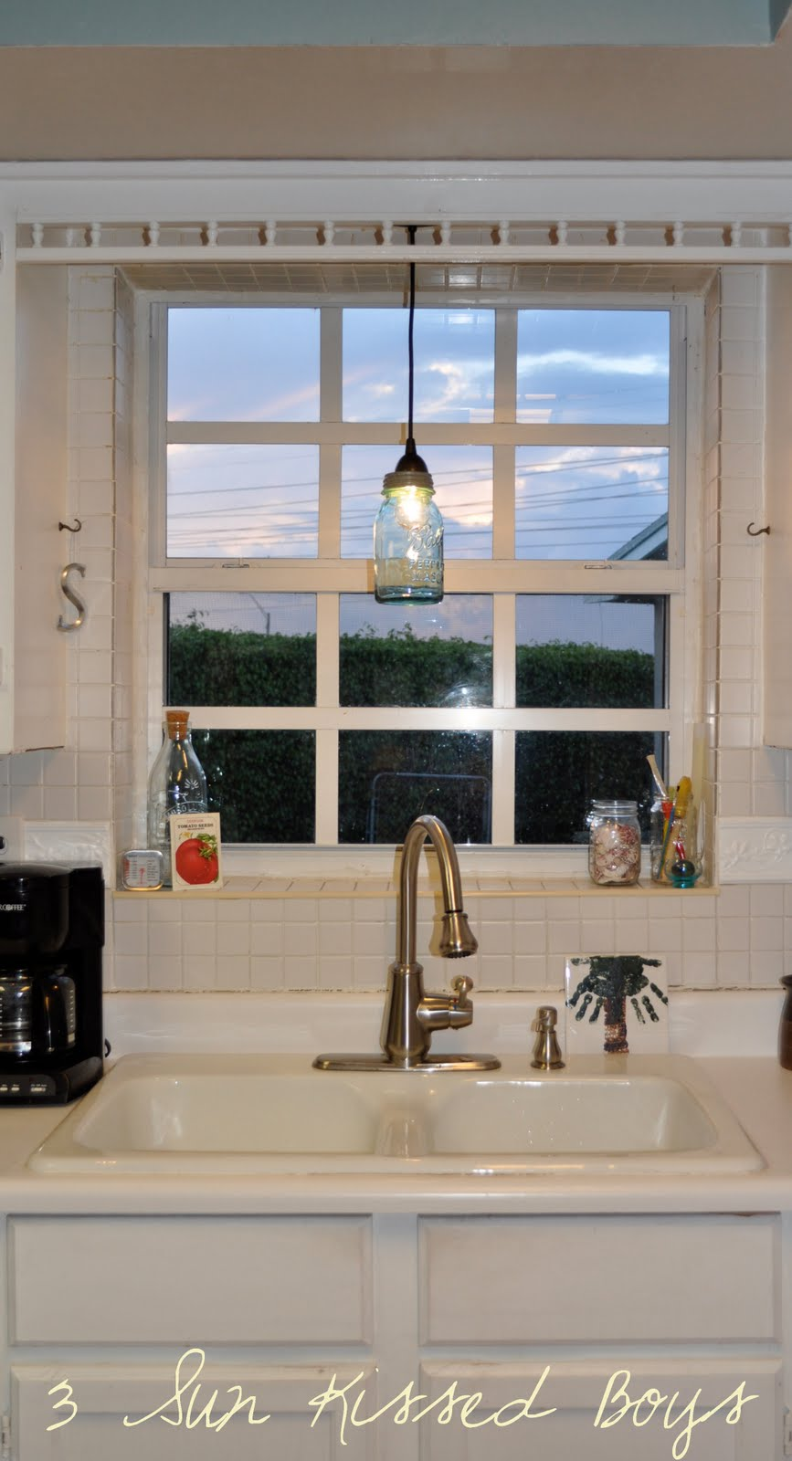 Pendant Light In Front Of Kitchen Sink Window