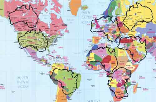 Bytes interesting facts 30 size matters australia is just about twice as large as all of europe and is two thirds as large as the continental united states gumiabroncs Choice Image