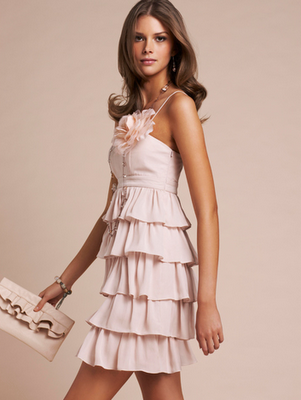 vestido de festa rosa 2011