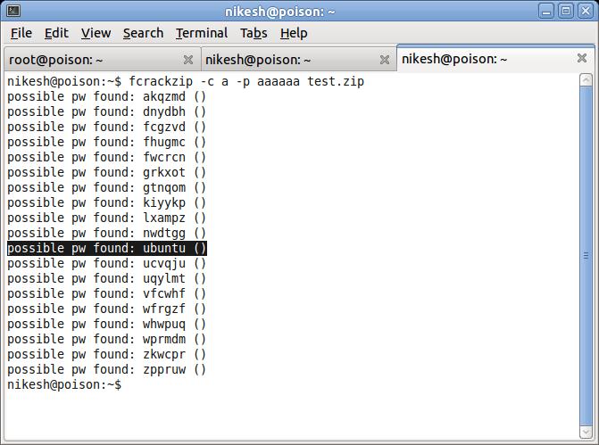 Password Cracker for zip Archives - fcrackzip | Linux Blog