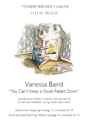 Tegnerforbundet - Vanessa Baird, med gjesteutstiller Mette Hellenes