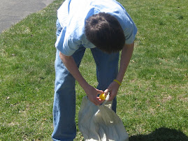 Easter Egg Hunting at Grandma's