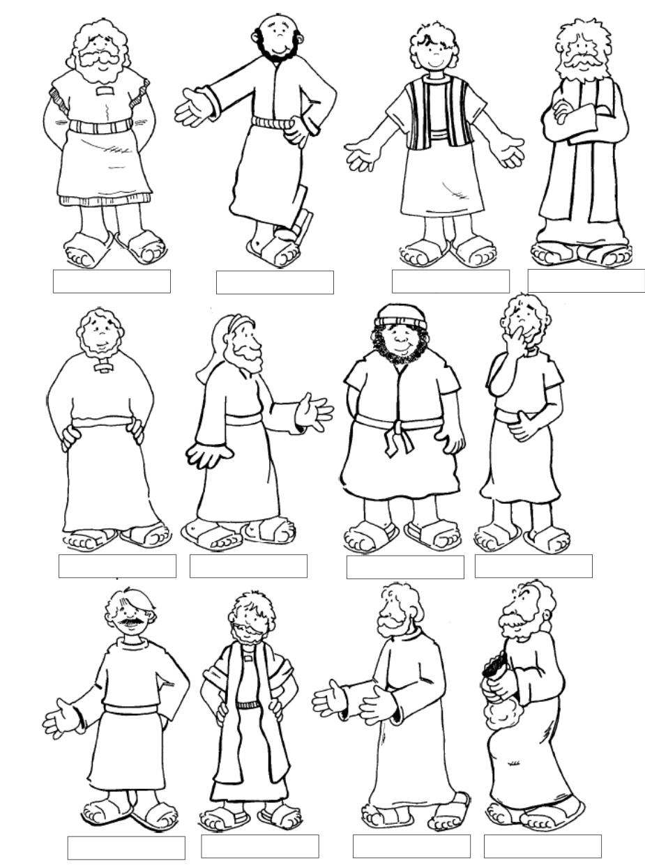 Tia Paula: Jesus e os apóstolos para colorir