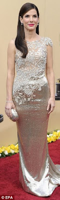Sandra Bullock Oscars 2010 MArchesa