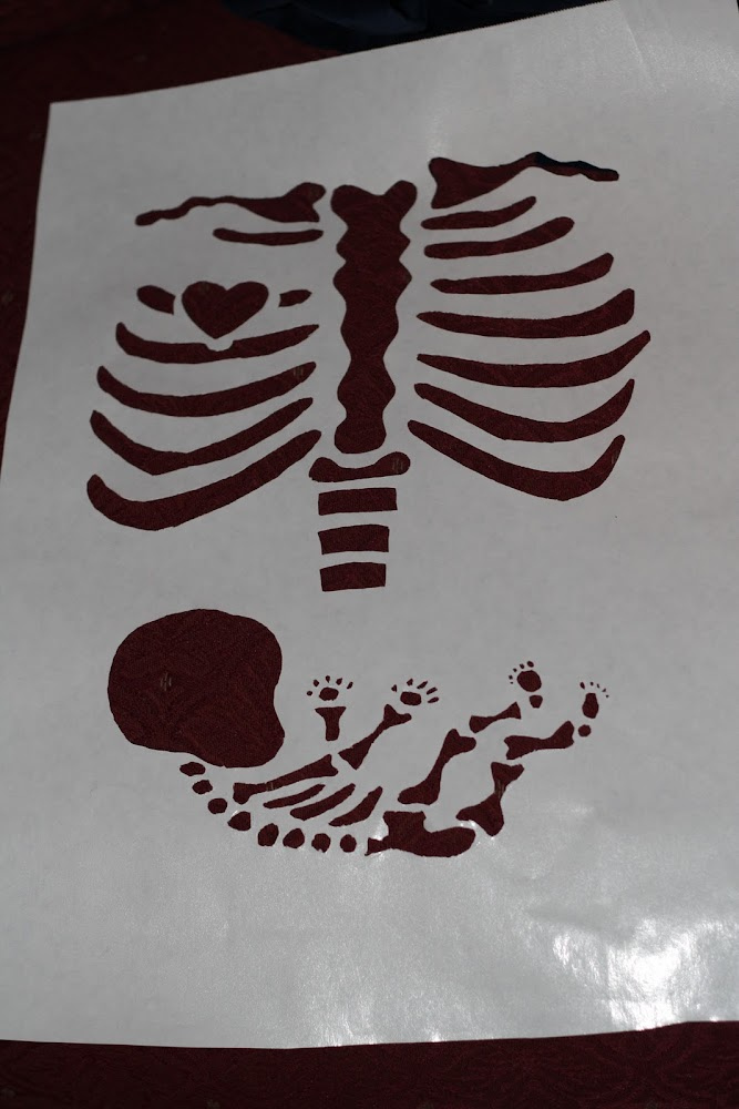 maternity skeleton shirt