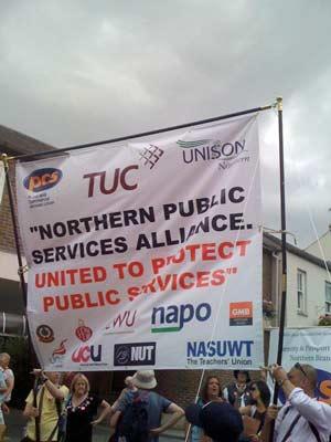 Public service alliance banner