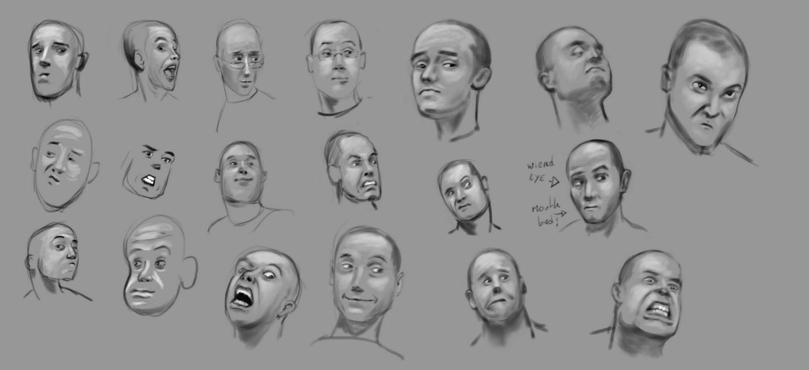 blog a bil: head sketch