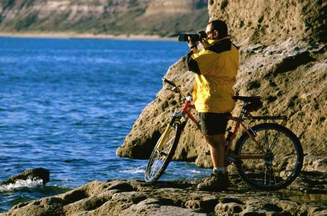 Puerto Pirámides, único centro urbano de Península Valdés en la Patagonia Argentina