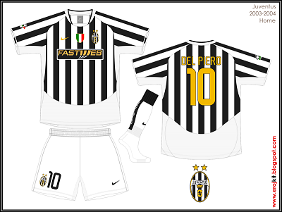 hot sale online 83e25 f48a4 Kit Design, by eroj: 2003-2004 Juventus (Home, Away e Third)