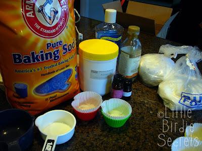 Bath Bomb Cupcakes Supplies