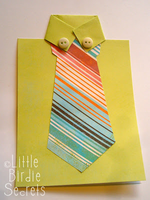 DIY Father´s Day Shirt and Tie Card.