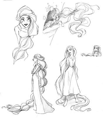 Concept art de Rapunzel (Enredados)