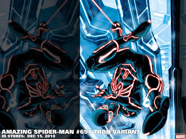 Tron Spider Man