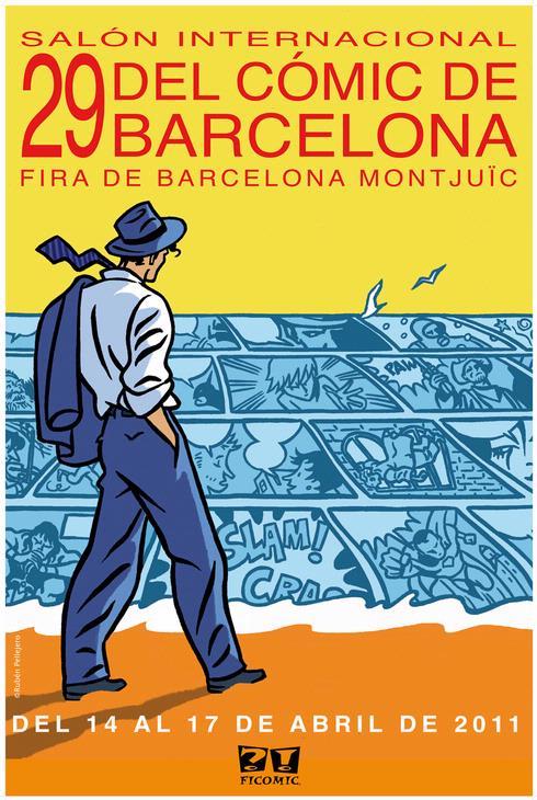 Cartel 29 edición Salón del cómic de Barcelona