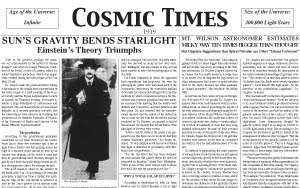 Cosmic Times 1919
