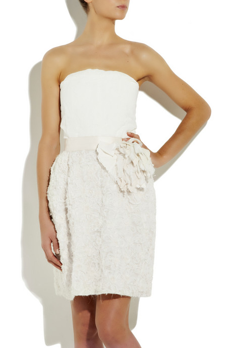 Claire Amp Coco Lanvin Silk Blend Bustier Dress With
