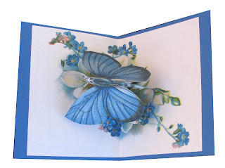 rotating butterfly pop up card
