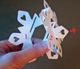 sliceform snowflake