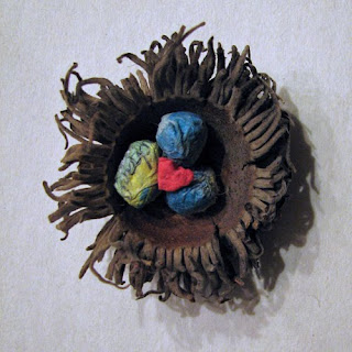 bur oak acorn hat papier mache eggs