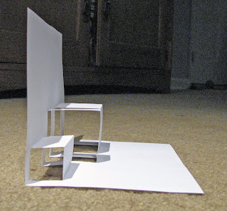 simple box pop up card side view