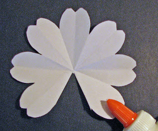 seven flower pop up card