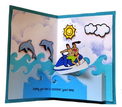 jet ski pop up card