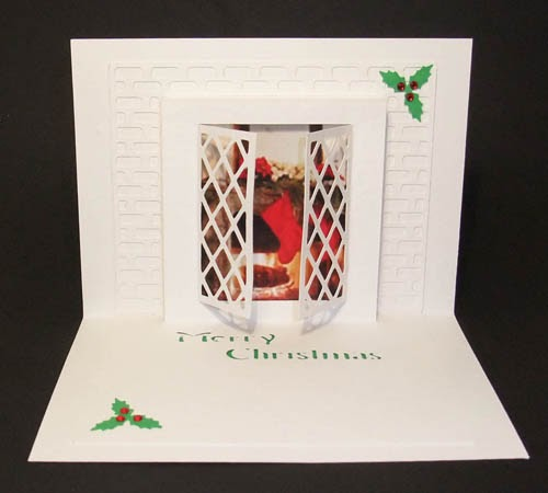 Christmas Window Pop Up Card