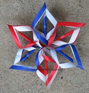 patriotic 3d snowflake