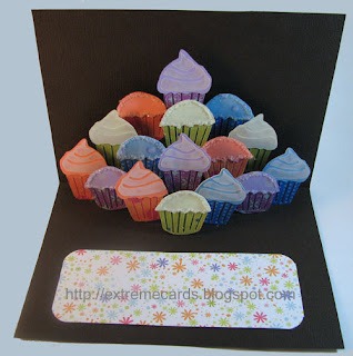 cupcake pop up card