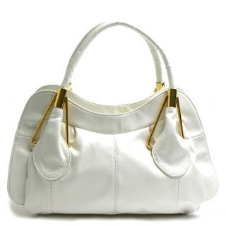 White Satchel medium purse @ Chasing Davies