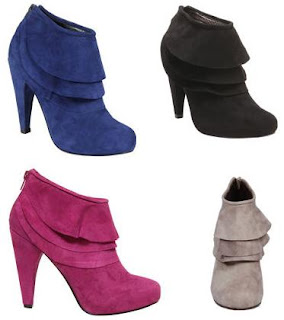 Steve Madden Cuddless Boots taupe, blue, pink and black @ Chasing Davies