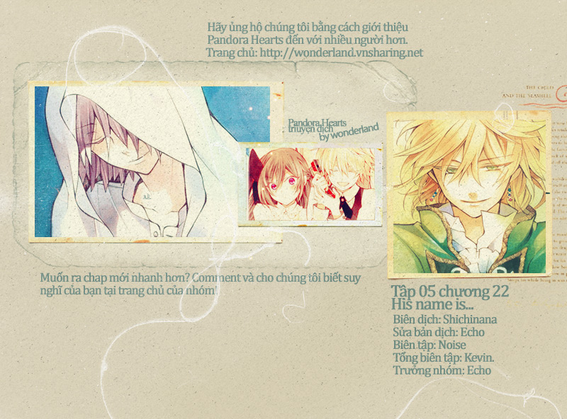 Pandora Hearts chương 022 - retrace: xxii his name is trang 1