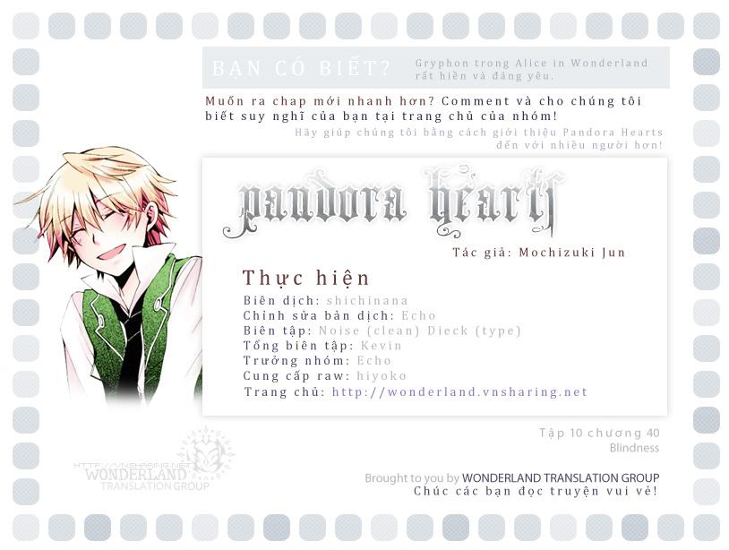Pandora Hearts chương 040 - retrace: xl blindness trang 1