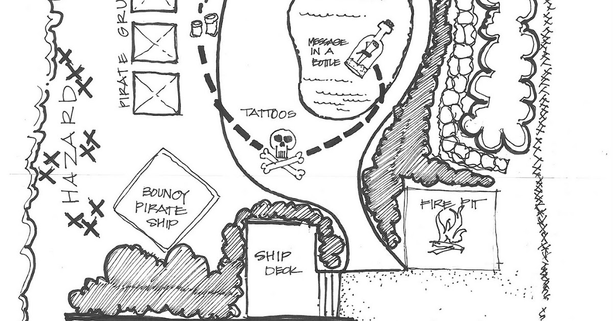 a. party style: pirate map