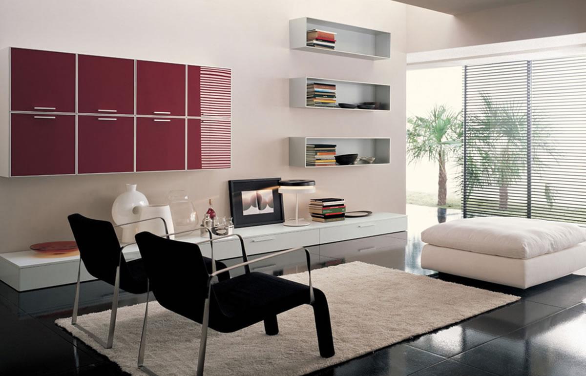 Living room decorating home design inside for Modern front room furniture