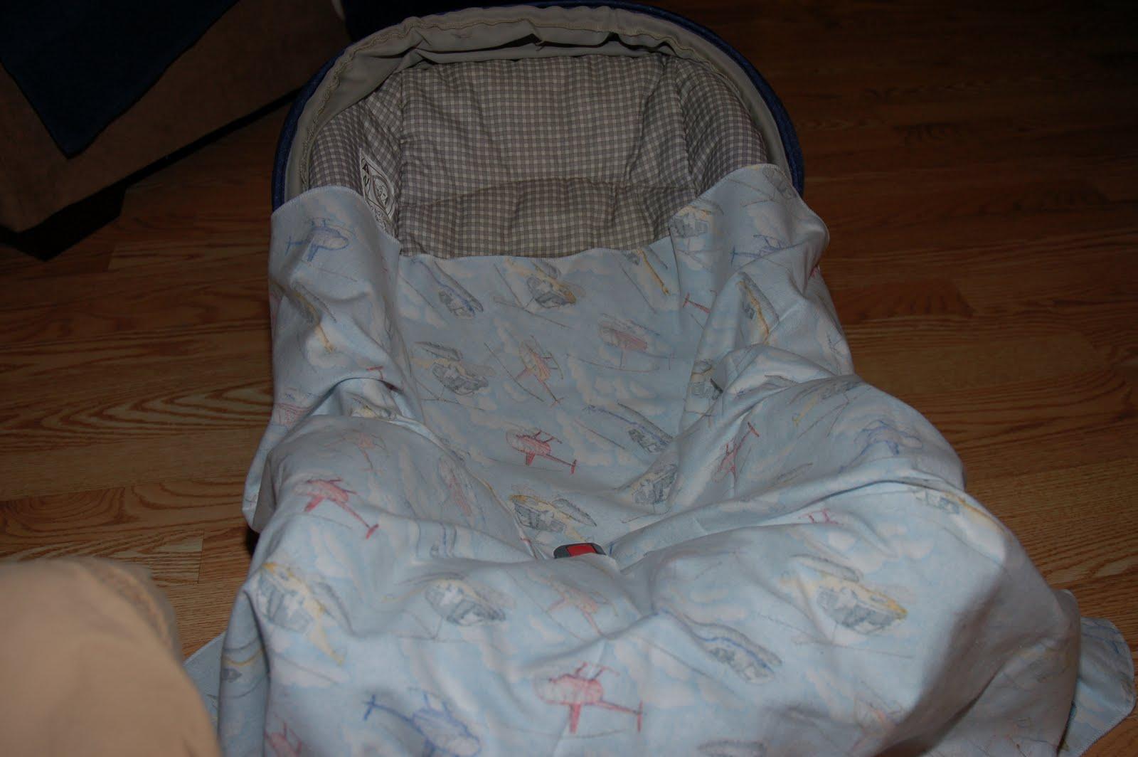 Urban Pioneer Woman: Car Seat Swaddle Blanket Tutorial