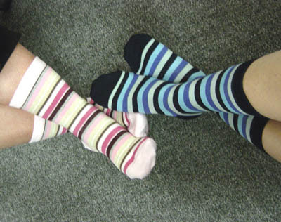 These socks may be more laid-back then some, but still cray enough to make it on to my blog!